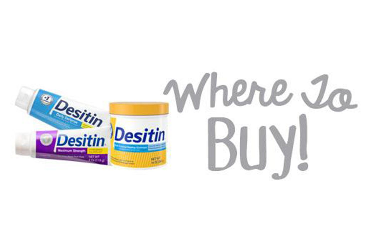 three Desitin products for where to buy